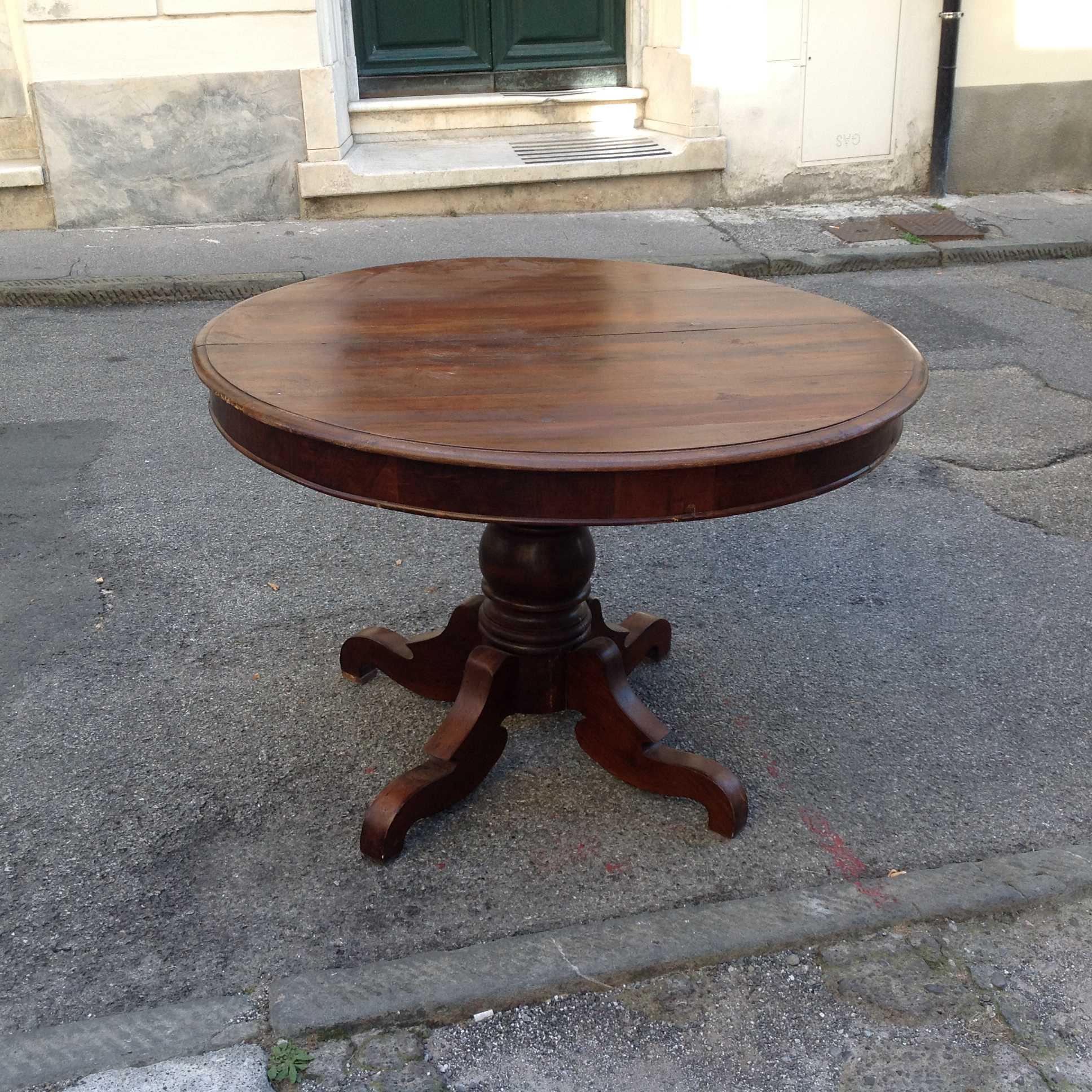 Tavolo rotondo luigi filippo   arredamento mobili antiquariato ...
