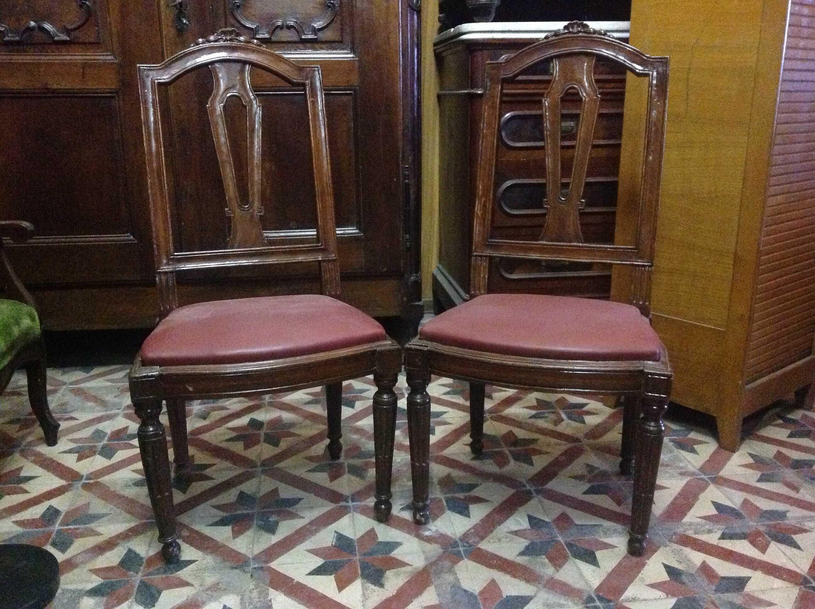 Sedie luigi xvi arredamento mobili antiquariato musetti for Arredamento luigi xvi