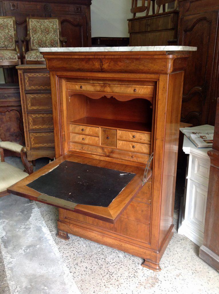 Secretaire cappuccino francia arredamento mobili for Mobili antichi vendita