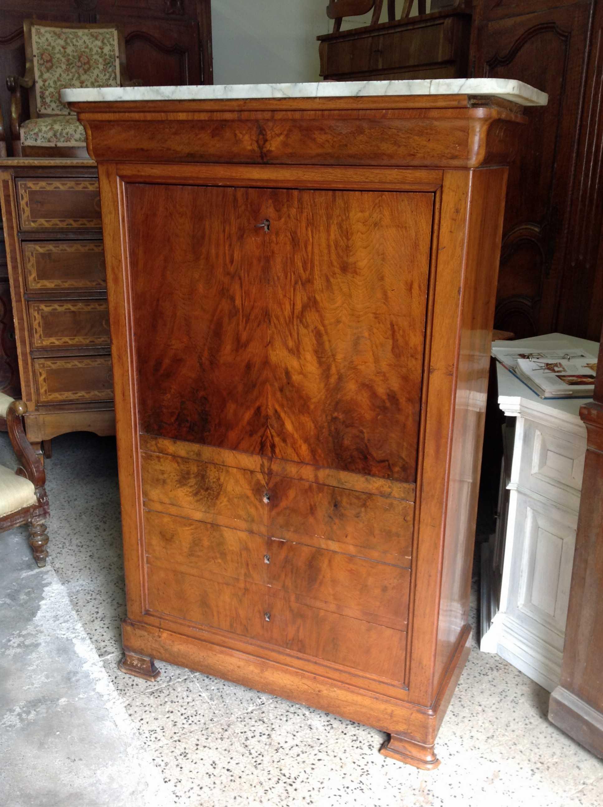 Secretaire cappuccino arredamento mobili antiquariato - Impiallacciatura mobili ...
