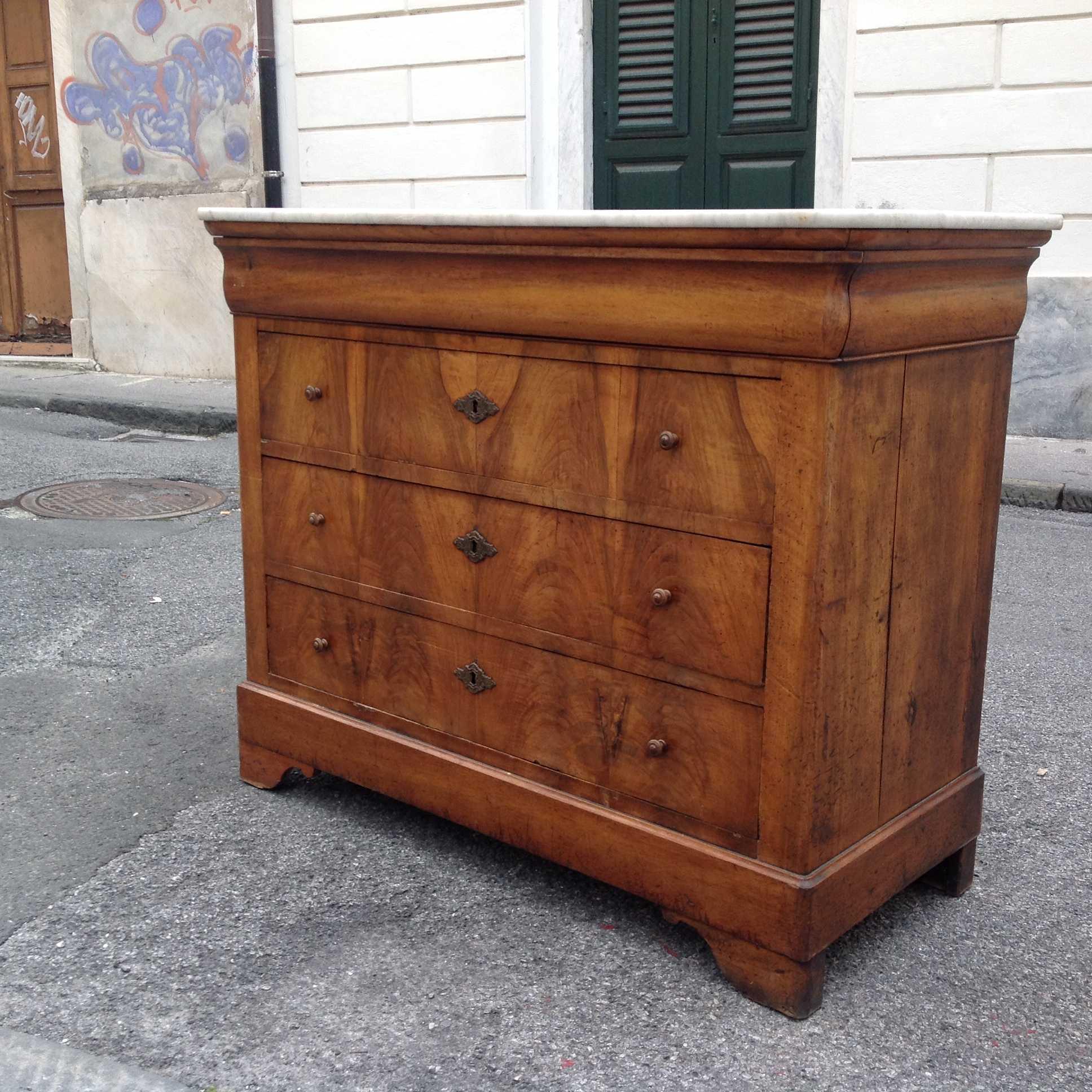Cassettone cappuccino francia 800 arredamento mobili for Ebay arredamento antiquariato