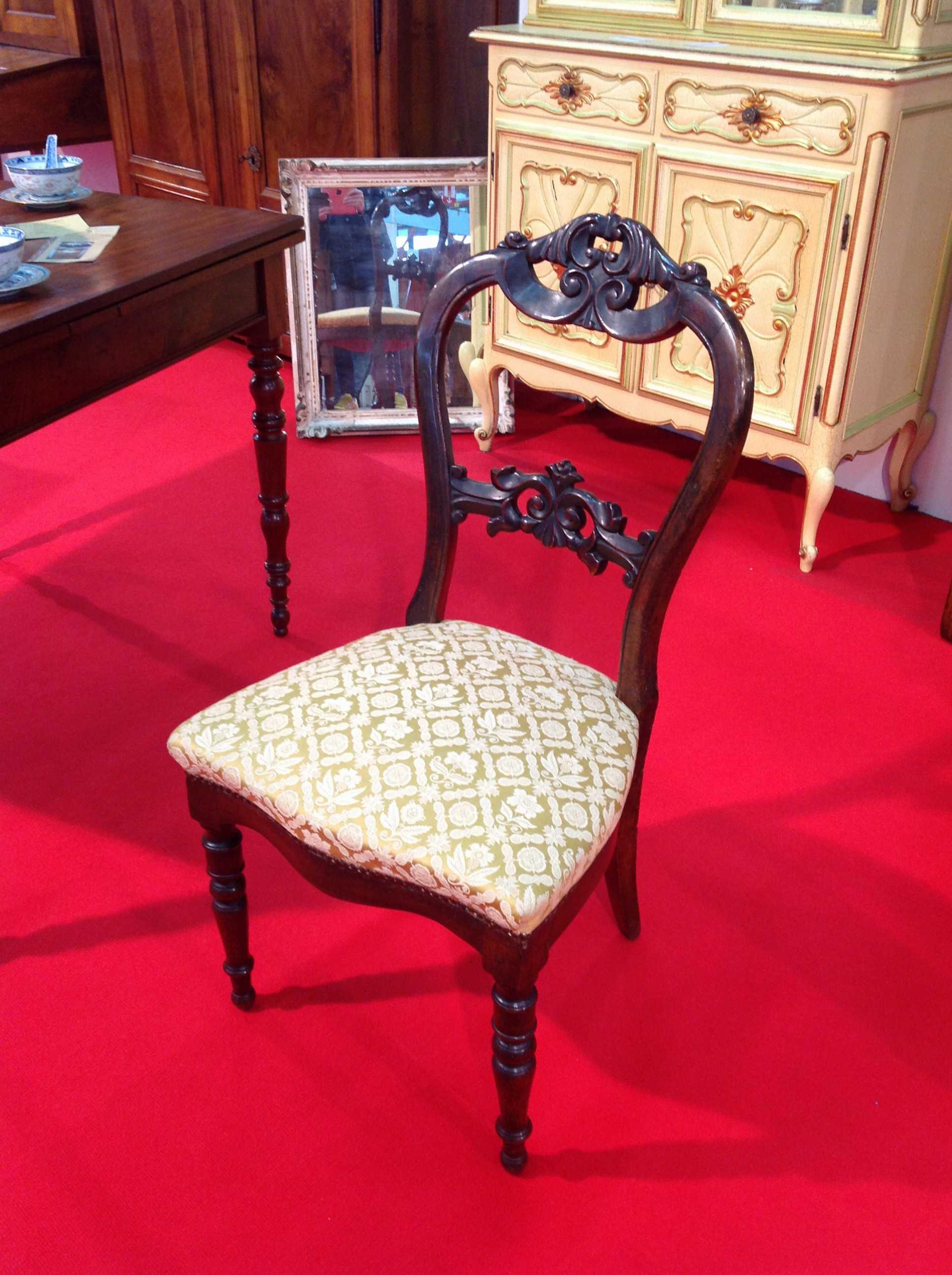 Sedia luigi filippo arredamento mobili antiquariato musetti for Mobili 800 toscano