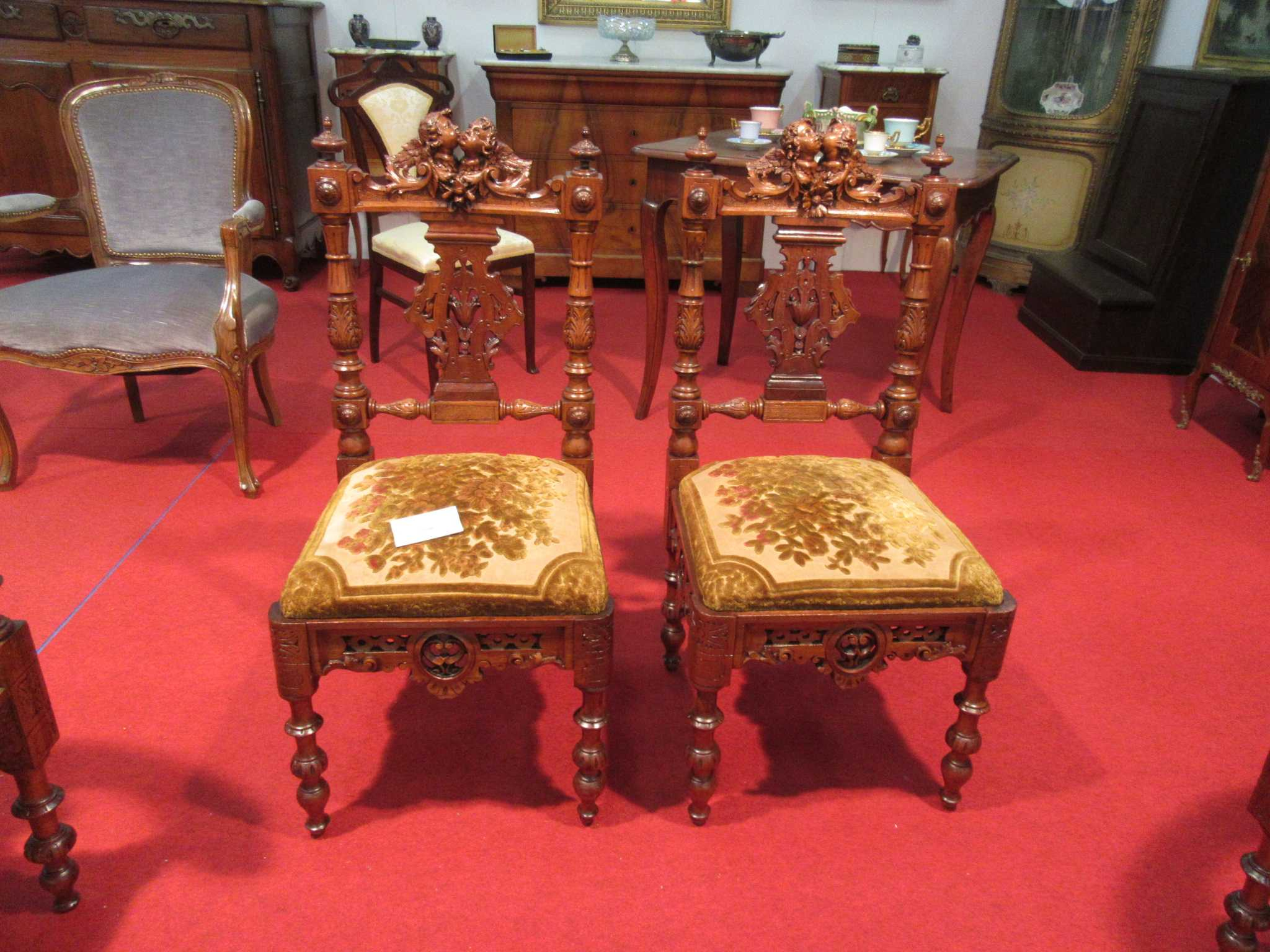 Coppia sedie eclettiche genovesi arredamento mobili for Stili mobili antichi
