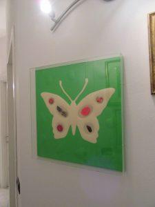 Renzo Nucara Cracking Artist (Crema 1955), Butterfly Effect (Farfalla di Nucara) 50 x 50 ,tecnica mista applicazioni