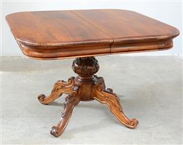 Tavoli arredamento mobili antiquariato musetti - Tavolo quadrato gamba centrale ...