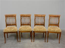 quattro sedie stile Luigi XVI